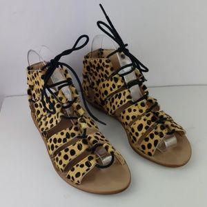 LOEFFLER RANDALL Skye Cheetah Calf Hair Sandals